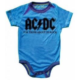 AC/DC Short Sleeve Onesie
