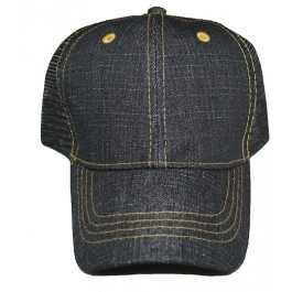 Black Denim Snapback Hat