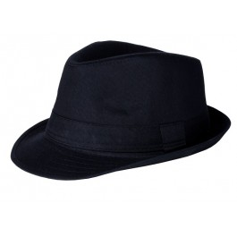Boys Black Brimmed Fedora Hats