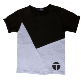 Black & Grey Asymmetrical Tee Shirt