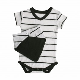 Fashion Knit Onesie-BLACK&WHITE