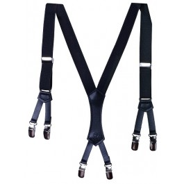 Boys Black Premium Suspenders