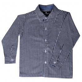 Black and White Gingham Boys Dress Shirt