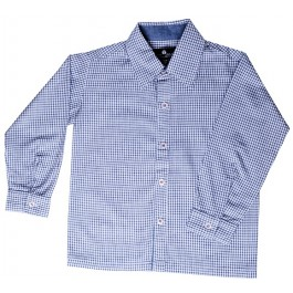 Blue Checker Boys Dress Shirt