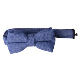 Blue Denim Boys Bow Tie