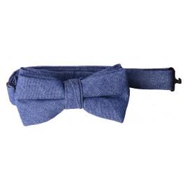 Blue Denim Boys Bow Tie