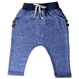 Blue Hip Harem Pants