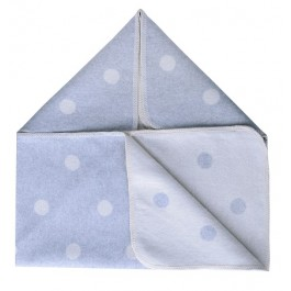 Grey and Off White Pok A Dot Baby Blanket