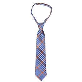 Blue and Orange Boys Neck Tie