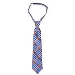 Blue and Orange Boys Neck Tie