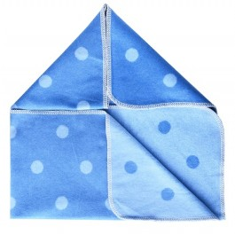 Blue & Light Blue Pok A Dot Baby Blanket