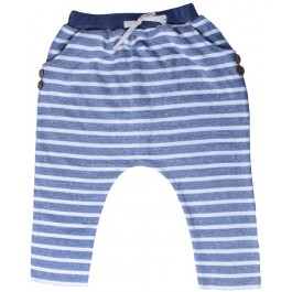 Blue Striped Hip Harem Pants