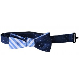 Premium Blue & White Bow-tie