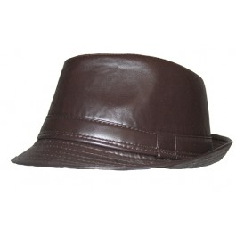 Brimmed Leather Fedora Hats