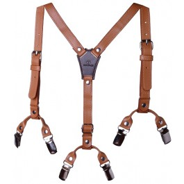 Boys Brown Premium Suspenders