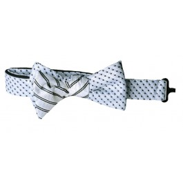 Cream Dot Premium Boys Bow Tie