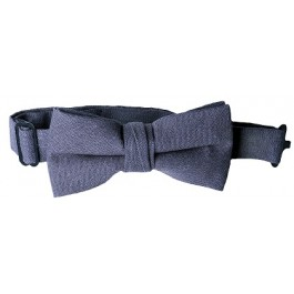 Dark Grey Boys Bow Tie