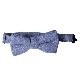 Denim Grey Bow Tie