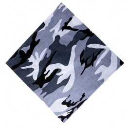 Boys Grey Camo Bandana