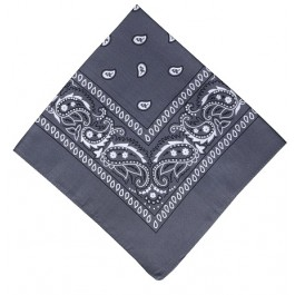 Grey Paisley Kids Bandana