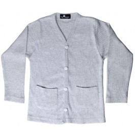 Grey Pocket Cardigan