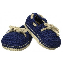 Hand Crocheted Baby Boat Shoes