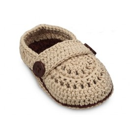 Hand Crocheted Baby Moc Shoes