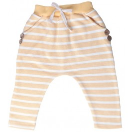 Yellow Hip Striped Harem Pants