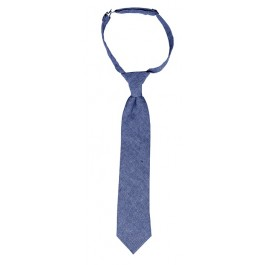 Light Blue Linen Boys Neckties
