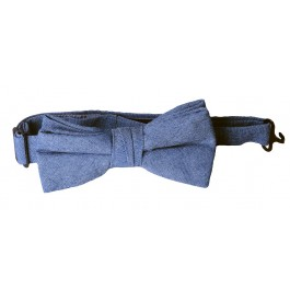 Light Blue Linen Boys Bow Tie