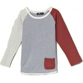 Multi Colored Grey & Red Pocket Sweat Shirt