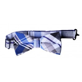 navy blue plaid bows bow tie