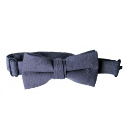 Night Blue Linen Boys Bow Tie