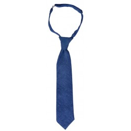 Night Blue Linen Boys Tie