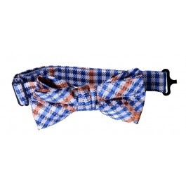 Orange Plaid Boys Bow Tie