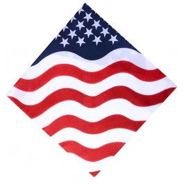 Patriotic Red White & Blue Flag Bandana