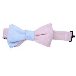 Pink & Baby Blue Premium Boys Bow Tie