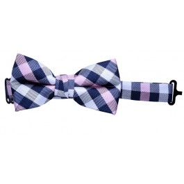 Pink & Black Checker Bow-tie