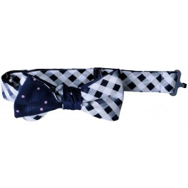 Pink - Cream - Blue Boys Bow Tie