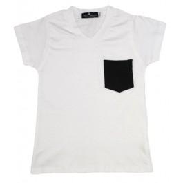 Pocket T Shirt with V Neck
