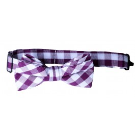 Purple Checker Bow Tie