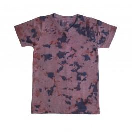 Boys V Neck Purple Tie Dye T