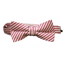 Red Stripe Boys Bow Tie
