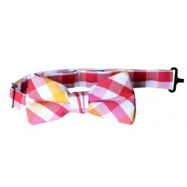 Red Checker Boys Bow-Tie