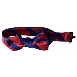Red & Navy Premium Boys Bow Tie