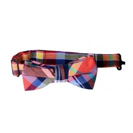 Red Plaid Boys Bow Tie