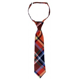 Red Plaid Boys Necktie
