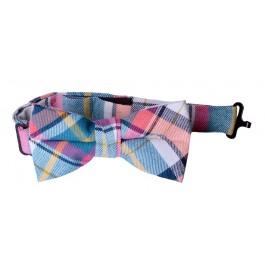 Summer Plaid Boys Bow Tie