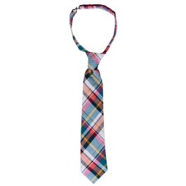 Summer Plaid Boys Tie