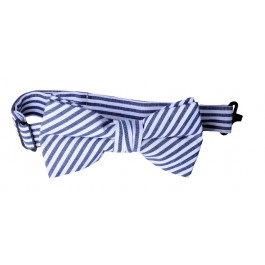 White Stripe Boys Bow Tie